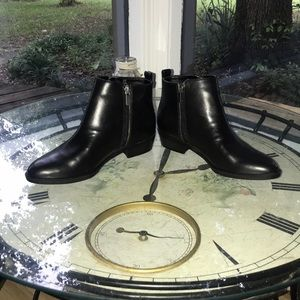 Chaps Shoes - Black booties- 6.5